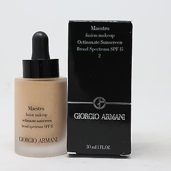 Giorgio Armani Maestro Fusion Makijaż Spf 2 Fundacja 1uncja/30ml Nowy z pudełkiem