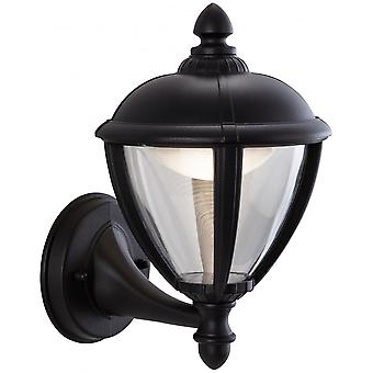 Firstlight Staid Traditional Black LED Coach Wall Light Lantern
