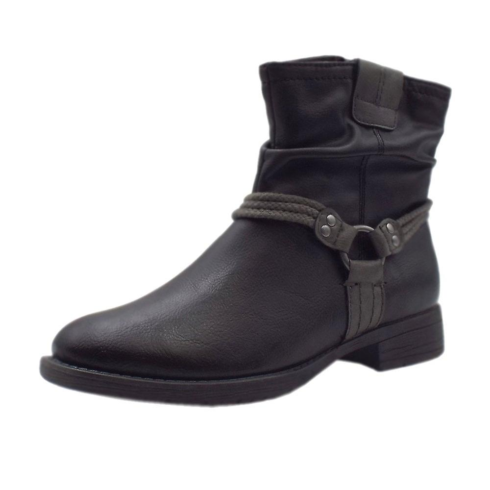 Soft Line 25461 Ancona Biker Style Wide Fit Boots In Black Y9IuV