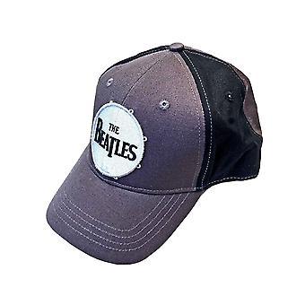 Beatles Baseball Cap Drum Classic Band Logo Virallinen 2 Sävy Harmaa Strapback
