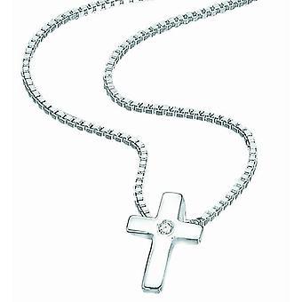 D For Diamond Baby Silver Cross Pendant P800