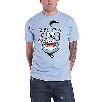 Aladdin T Shirt Genie Gesicht neue offizielle Disney Herren hellblau