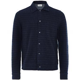Oliver Spencer Textured Striped Rundell Jacket