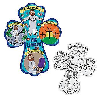 12 färg i påsk korsar för Christian hantverk | Söndagsskolan stökigt kyrka
