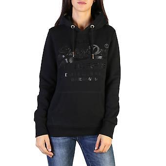 Superdry Original Damen Herbst/Winter Sweatshirt - schwarz Farbe 37759