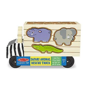Childrens Melissa og Doug Safari Animal Rescue Truck Play Set 2 + år
