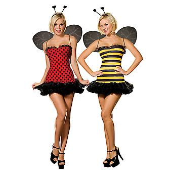 Sexy Bee/Lady Bug Reversible Costume