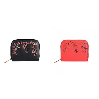 Jewelcity Womens/Ladies Embroidered Floral Small Purse