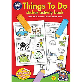 Things To Do Colouring Book