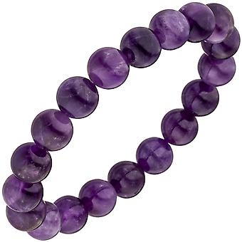 Armband Amethyst lila violett 19 cm Amethystarmband Edelsteinarmband elastisch