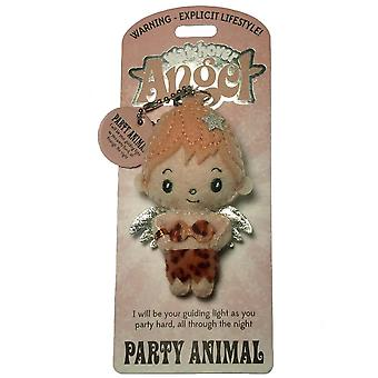 Watchover Angels Party Animal Angel Keyring