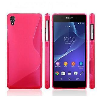 Sony Xperia Z3 - Elegant S line Skal Bakstycket - Röd