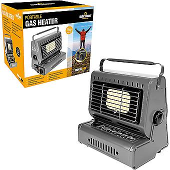 Milestone Portable Camping Butane Gas Heater Grey 1.3KW