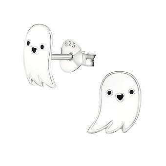 Ghost - 925 Sterling Silver Colourful Ear Studs - W19456x