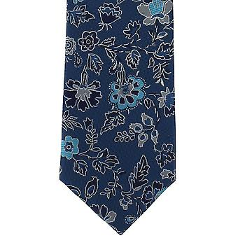 Michelsons of London Foliage Floral Polyester Tie - Teal