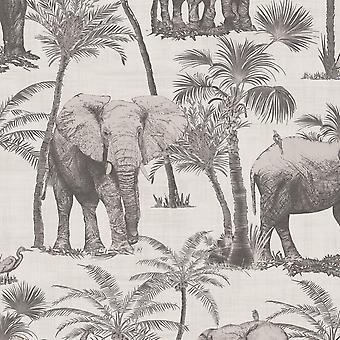 Reisen Elephant Grove Wallpaper Arthouse