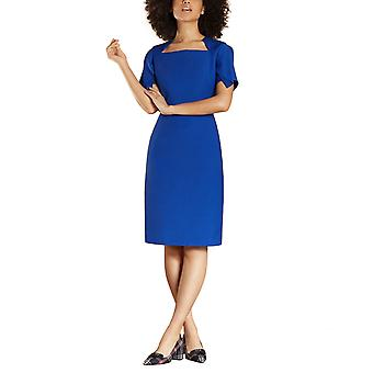 Brooks Brothers Women's Flutter-Sleeve Wool-Blend Crepe Dress