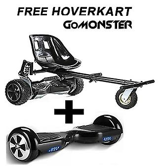 "GoMonster Hoverkart mit 6.5""Classic Black Bluetooth Hoverboard Segway"