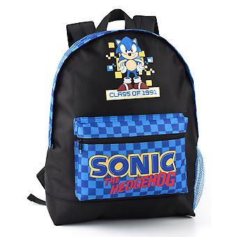 Sonic The Hedgehog Backpack For Boys & Girls | Retro Gamer Gift Kids School Bag Rucksack | Childrens Gaming Merchandise Gift One Size