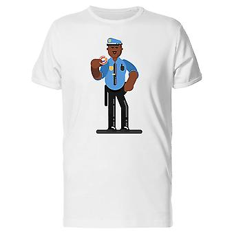 Police Officer With Donut Tee Men's -Image by Shutterstock