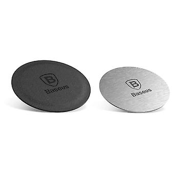 Magnet plates for magnet phone holder car - 2 pieces silver and black