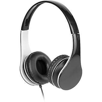 Vivanco MOOOVE Hi-Fi On-ear headphones On-ear Ear clip Black, Grey