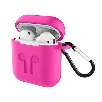 Soft Case AirPods 1 and 2 Anti-fingerprint Anti-Scratch with Carabiner- Pink