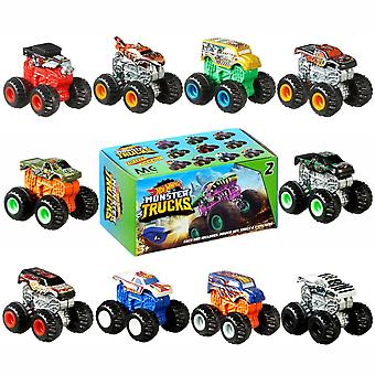 4-Pack Hot Wheels Monster Trucks Minis With Key & Stickers 4cm