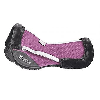 Shires Performance Full Size Suede Half Pad - Plum
