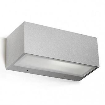 1 Light Outdoor Wall Light Grey Ip54