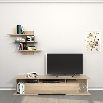 Mobile Porta TV Bounty Color Sonoma in Truciolare Melaminico 170x32x36 cm, 72x15x60 cm