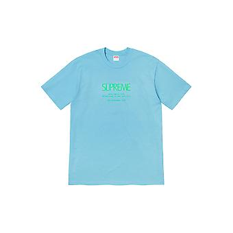Supreme Anno Tee Light Blue - Roupa