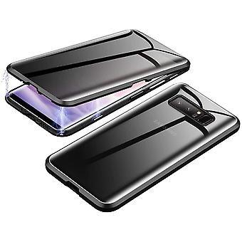 Mobiles Gehäuse aus doppelseitigem gehärtetem Glas für Samsung Galaxy Note 8 - schwarz