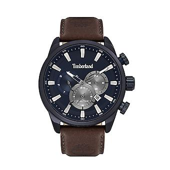 Timberland Watches Tbl.16002jlabl/03 Millway Brown Leather Strap Men's Chronograph Watch
