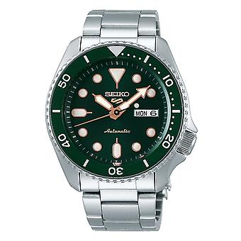 Seiko Watches Srpd63k1 5 Sports Rose Gold, Green & Silver Stainless Steel Automatic Men's Watch
