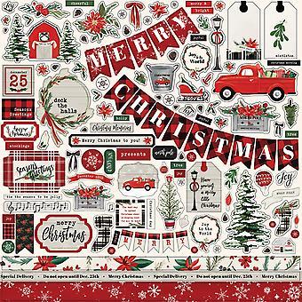 كارتا بيلا عيد الميلاد السوق 12x12 بوصة عنصر ملصقا