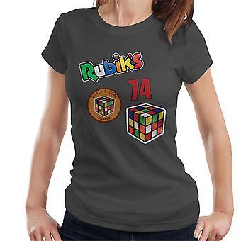Rubiks kub emblem kvinnors T-shirt