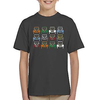 Citro?n 2CV Vintage Farve Art Kid's T-shirt