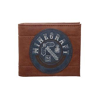 Minecraft Wallet Adventure Pixaxe Logo new Official Gamer Brown Bifold