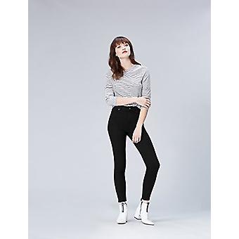 العثور. المرأة & apos;ق نحيل منتصف ارتفاع جينز تمتد, أسود, W26 x L32