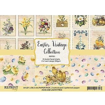 Reprint Vintage Easter A4 Paper Pack