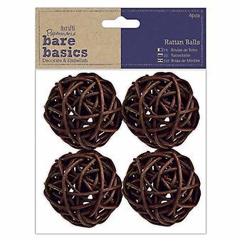 Papermania Bare Basics Rattan Balls Large (4pcs) (PMA 174458)