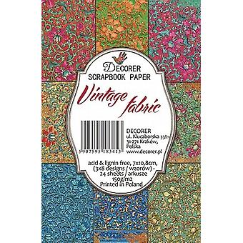 Decorer Vintage Fabric Paper Pack (7x10.8cm) (M42)