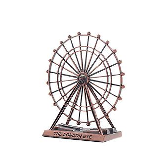 Vintage Alloy Ferris Wheel Model Ornament Red