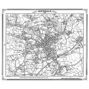 Rochdale 1844 Map (Heritage� Cartography Victorian Town Map Series)