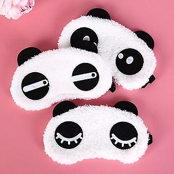 Cute Face White Panda Eyes Shading Sleep Cotton - Eye Mask Cover