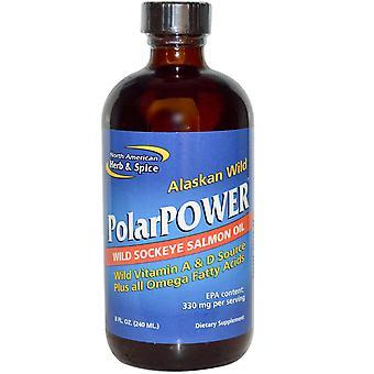 North American Herb & Spice, Alaskan Wild PolarPower, Wild Sockeye Salmon Oil, 8