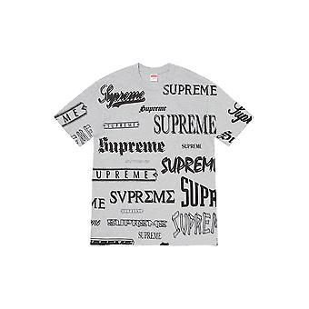 Supreme Multi Logo Tee Heather Grey - Kleding