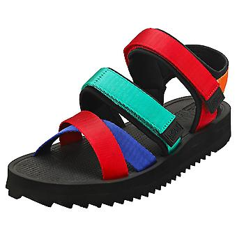 Tommy Jeans Logo Strap Mens Fashion Sandals in Black Multicolour