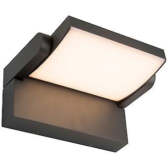 Lámpara AEG Grady LED Lámpara de pared al aire libre antracita 1x 12.5W LED integrado, (1200lm, 3000K) Escalar A++ a E ? Tipo de protección IP: